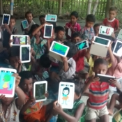 Kids with all the tablets