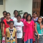 L - R Sad to happy faces - these girls were sent to Akhand Jyoti Eye Hospital as a part of Prayog's attempt to create forward linkages in June 2015