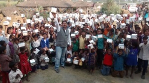 Distribution of Solar Lamps on October 23rd 2014